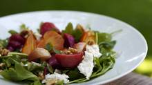Roasted beet salad with fresh ricotta (Michelle Siu/The Globe and Mail)