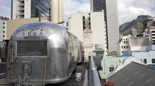 Jody Aufrichtig has already put seven of Airstream trailers on top of his Grand Daddy Hotel in Cape Town, where they enjoy views of Table Mountain, the city centre and the Atlantic Ocean.