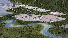 Seventeen B.C. LNG project proposals have been announced so far, including a plant and marine terminal in Kitimat, B.C. (model shown). (Robin Rowland/THE CANADIAN PRESS)