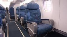 The cabin of an Embraer 175 (E175) jet. (Air Canada)