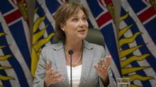B.C. Premier Christy Clark in Vancouver office April 13, 2011. (JOHN LEHMANN/JOHN LEHMANN/THE GLOBE AND MAIL)