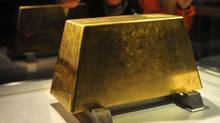 The world's largest solid gold brick, weighing 220 kg, sits at the Jinguashi Gold Museum in Ruifang, Taiwan (SAM YEH)