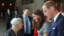 OTTAWA, CANADA - JULY 02: Katherine, Duchess of Cambridge (2nd R) and Prince William, Duke of Cambridge meets with former nurse Ida Crocker, who served in England Italy during World War II, at the Canadian War Muesum on July 2, 2011 in Ottawa. (Pool/Getty Images)