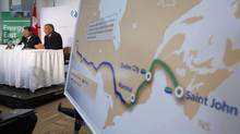 TransCanada Corp.'s Energy East oil pipeline would be one of North America's largest crude pipes, offering Alberta's oil sands producers waiting for the Keystone XL line another way to reach customers by shipping across Canada to the Atlantic Coast. (TODD KOROL/REUTERS)