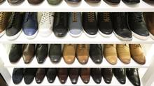 Shoes on display at Aldo in the Yorkdale Shopping Centre in Toronto. (Darren Calabrese For The Globe and Mail)