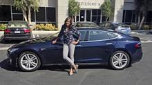 Aisha Tyler loves driving her Tesla Model S, especially when she speeds past people who challenge her to races.