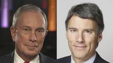 Michael Bloomberg, left, and Gregor Robertson