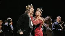 Maria Guleghina as Lady Macbeth and Zeljko Lucic in the title role of Verdi's Macbeth.
