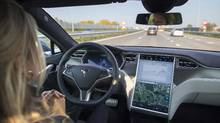 On the way to fully self-driving cars, levels of autonomy have been defined, with most cars on the road today at Level 2 and Tesla ready to switch from Level 4 to 5 – full autonomy – as soon as it is permitted to do so. (Jasper Juinen/Bloomberg)