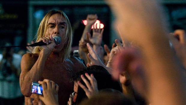 Iggy Pop of Iggy and the Stooges performed during the 2010 NXNE festival in Dundas Square in Toronto.