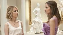 "Kristen Wiig, left, with Rose Byrne in a scene from ""Bridesmaids."" (Suzanne Hanover/AP)"