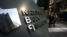 National Bank Financial on King Street in Toronto. (Fernando Morales/The Globe and Mail)