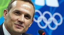 In this Feb. 13, 2010, file photo, Steve Yzerman, executive director Canada's Olympic men's hockey team speaks to reporters during a news conference at the 2010 Vancouver Olympic Winter Games in Vancouver, B.C. (Ryan Remiorz/THE CANADIAN PRESS)