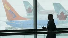A photo taken at Pearson International Airport in Toronto on Feb. 5, 2014. (Kevin Van Paassen/The Globe and Mail)