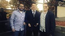 Damien Lee (left) has been accepted as a band member with the Fort William First Nation - possibly the first time that a non-indigenous person has been officially accepted as a member of a First nation that is still covered by the Indian Act. (Damien Lee)