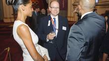 Prince Albert II of Monaco (C) attends a reception for members of the International Olympic Committee, at Buckingham Palace, in central London July 23, 2012. (POOL/REUTERS)