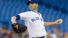 Toronto Blue Jays starting pitcher J.A. Happ could see himself demoted to the team's bullpen this season (file photo). (Chris Young/THE CANADIAN PRESS)