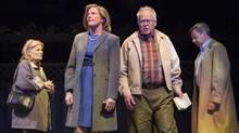 Nancy Beatty, Julie Stewart, Eric Peterson and Michael Healey are part of an all-star cast in George F. Walker's Dead Metaphor. (Cylla von Tiedemann/Mirvish)