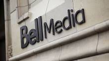 The Bell Media logo is displayed on a building in Toronto in this handout photo. (Darren Goldstein/THE CANADIAN PRESS)