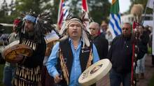A procession of residential school survivors during the Truth and Reconciliation Commission of Canada, British Columbia National Event in Vancouver, Wednesday, September 18, 2013. (Rafal Gerszak For The Globe and Mail)