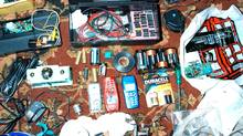 This is a police evidence photo of circuitry and cellphones found in the Mississauga residence of Zakaria Amara, 24, the ringleader of a plot to bomb Toronto. He pleaded guilty this month to several offences, including building prototype detonators that were to called by cellphones to set off a series of fertilizer-based truck bombs.