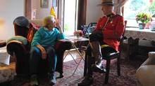 Jenny Stewart was smitten by a Mountie at the age of 10 in Scotland. This week, Constable Scott MacLeod met with her at her Port Alberni hospice.