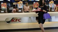 Yum Brands Inc., owner of KFC, earned more than 50 per cent of its revenue from China last year. (KIM KYUNG-HOON/REUTERS)