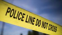 Police tape at the site of a crime. (John Lehmann/The Globe and Mail)