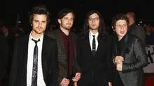 The Kings -- (from left) Jared, Caleb, Nathan and Matthew -- keep shaking that money maker. (Gareth Cattermole/Getty Images/Gareth Cattermole/Getty Images)