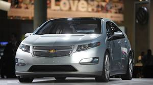 The 2011 Chevrolet Volt at the Los Angeles Auto Show.