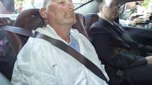 Richard Bain arrives in court in Montreal in 2012. (Patrick Sanfaçon/La Presse photo)