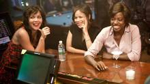 "Maggie Gyllenhaal, left, Rosie Perez and Viola Davis, right, in a scene from ""Won't Back Down"" (Kerry Hayes/AP)"