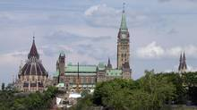 The Peace Tower of Parliament Hill is in Ottawa on May 22, 2014. (Dave Chan For The Globe and Mail)
