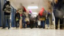 Generic hallway shot at Sir Wilfred Laurier Collegiate Institute in Toronto on Feb. 12, 2013. (Peter Power/Peter Power/The Globe and Mail)