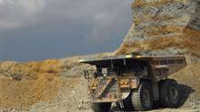 A truck waits for ore at a Newmont Mining operation. (STAFF/REUTERS)