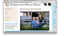 Ree Drummond's blog, thepioneerwoman.com, covers topics from home schooling to pot-bellied pigs.