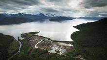 The proposed Kitimat, B.C., LNG site at the Douglas Channel. (JOHN LEHMANN/THE GLOBE AND MAIL)