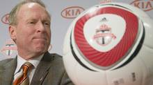 Toronto FC's newly-appointed club president and general manager Kevin Payne attends a news conference in Toronto Wednesday November 28, 2012. (The Canadian Press)
