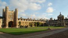Cambridge University's Trinity College is seen in Oct., 2009. Canadian academic Stephen Toope will become vice-chancellor of the school next October. (LOIC VENNIN/AFP/Getty Images)