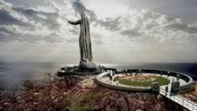 "An artist rendering of the proposed ""Mother Canada"" memorial, to be built in Green Cove, located in Cape Breton Highlands National Park. (Never Forgotten National Memorial Foundation)"