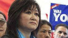 Conservative candidate Wai Young in her campaign office in Vancouver, April 6, 2011. (Brett Beadle for The Globe and Mail/Brett Beadle for The Globe and Mail)