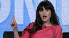 "Actress Zooey Deschanel, star of the comedy ""New Girl,"" takes part in a panel session at the FOX Winter TCA Press Tour in Pasadena, California January 8, 2012. (Jonathan Alcorn / REUTERS/Jonathan Alcorn / REUTERS)"