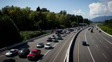 The B.C. government increased speed limits along some stretches of highway in 2014. (DARRYL DYCK for The Globe and Mail)