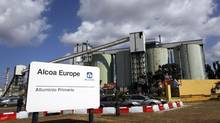 Alcoa Inc.'s aluminium plant in Sardinian is pictured in Portovesme in this file photo taken Sept. 1, 2012. (ALESSANDRO BIANCHI/REUTERS)