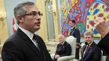 Tony Clement is sworn in as Treasury Board Presdient during a ceremony at Rideau Hall on May 18, 2011. (CHRIS WATTIE/REUTERS)