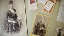 Pictures of Kathleen O' Reilly and British Antarctic explorer Robert Falcon Scott are part of a collection in the Archives building at the Royal B.C. Museum in Victoria. (Chad Hipolito for The Globe and Mail)