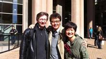 Finding Mr. Right's male romantic lead Wu Xiubo, middle, is flanked by Vancouver co-producer Shan Tam, right, and line producer Michael Parker.