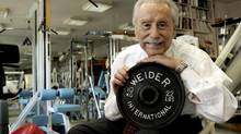 Legendary publisher, promoter and weightlifter Joe Weider, who created the Mr. Olympia contest and who brought California Governor Arnold Schwarzenegger to the U.S., poses for a portrait at his home in Los Angeles in this November 15, 2006 file photo. Weider died on Saturday at age 93, his publicist said. (ROBERT GALBRAITH/REUTERS)