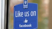A sign at Facebook headquarters in Menlo Park, Calif. (Paul Sakuma/Paul Sakuma/AP)