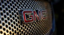A General Motors logo is seen on a Denali vehicle for sale at the GM dealership in Carlsbad, California January 4, 2012. (© Mike Blake / Reuters)